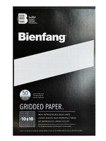 Bienfang Gridded Paper 10 x 10, 11 in. x 17 in, pad of 50 [pack of 2]