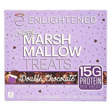 Enlightened, Double Chocolate, Crispy Marsh Mallow Treats, 4 pack