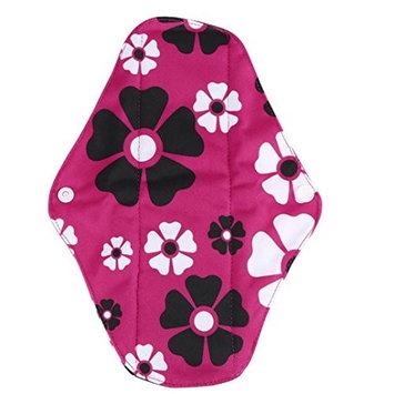 Reusable Menstrual Pads, Bestpriceam S/M/L Random Pattern Reusable Bamboo Cloth Washable Menstrual Pad Mama Sanitary (M, Hot Pink)