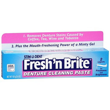 Fresh and Brite Fresh 'N Brite Denture Cleaning Paste 3.8 oz.(pack of 4)