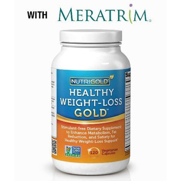 NutriGold Healthy Weight-Loss Gold Supplement with 8 Clinically-proven, Multi-patented Ingredients, including Meratrim, SuperCitrimax Garcinia Cambogia Extract, 7-Keto, Green Tea, and Green Coffee Bean Extract - 60 Vegetarian Capsules