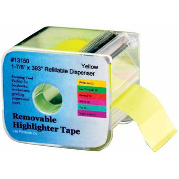 Lee Products Wide Highlighter Note Refill Tape - 1 7/8 inches - Pack of 2 - Yellow