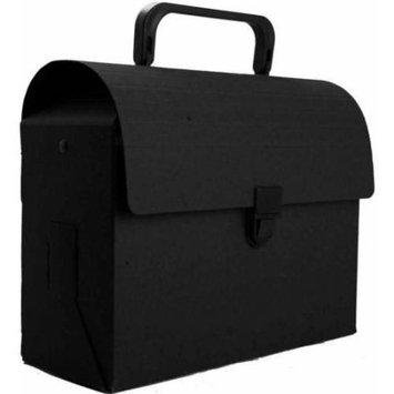 Jam Paper & Envelope Black Kraft Lunchbox / Art Case with Handles (6x9x4) - Sold individually