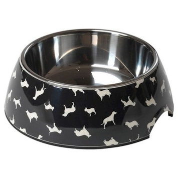 House of Paws Silhouette Dog Print Bowl
