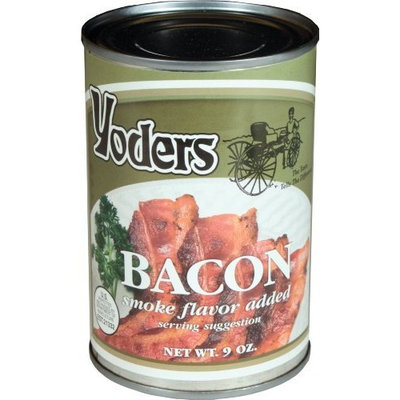 Yoders Canned Fully Cooked Bacon, 9 Ounce [Bacon]