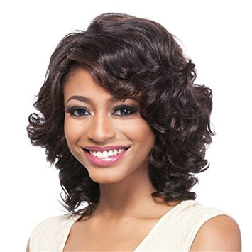 YX Synthetic African American Wigs for Women Short Straight Black Bob Wig 12