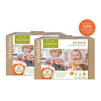 Infantino Squeeze Pouches, 100 Count [100pack of pouches]