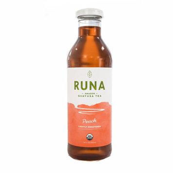 Runa Guayusa Bottled Tea Lightly Sweetened Peach 14 Ounce Glass Bottle Pack of 12