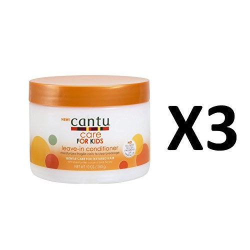 Cantu Care For Kids Leave-In Conditioner 10oz Jar (3 Pack)