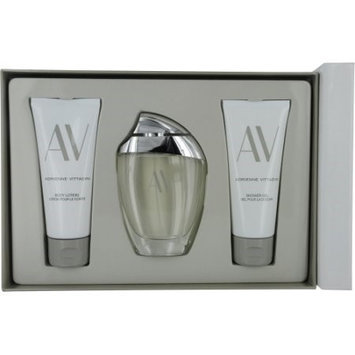 Adrienne Vittadini 483721 AV by Adrienne Vittadini Gift Set 3 oz Eau De Parfum Spray plus 3.3 Body Lotion plus 3.3 oz Shower Gel
