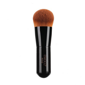 Foundation Kabuki Brush EMOCCI Flat Face Makeup Brush for Blending Liquid Powder BB Cream Buffing Bronzer Make Up Portable Brush Cosmetic Beauty Tool (Black)