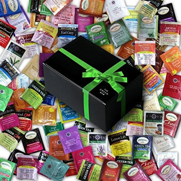 Greenbow Gift Box Tea Sampler including Bigelow, Twining, Stash - 90 Different Flavors! In Gift Box (90)