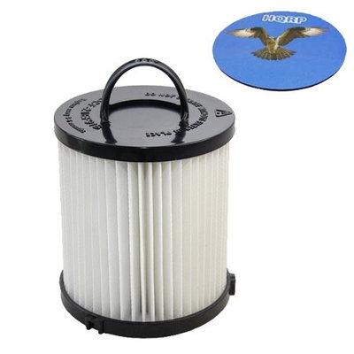 HQRP HEPA Filter for Eureka Clean Living 3281BZ 3281AZ / WhirlWind Plus 3282AVZ Upright Vacuum + HQRP Coaster