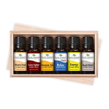Top 6 Essential Oil Synergies Sampler Set. Includes 100% Pure, Undiluted, Essential Oil Blends of Sensual, Energy, Germ Fighter, Relax, Immune-aid) and Tranquil.