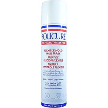 Folicure Hairspray 10oz Aerosol Flexible Hold (2 Pack)