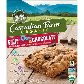 Cascadian Farm Organic Oats and Chocolate Soft Baked Squares, 7.44 oz