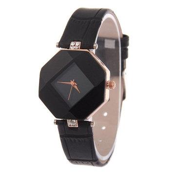 Waterproof Women Wristwatch Fashion Luxury Elegant Quartz Movement Watch Ultra-Light Lozenge Glass Casual Watch