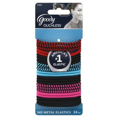 Goody Products Inc. Ouchless Rockstar 4mm Elastics, 24 CT
