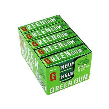 Nine X15 pieces Lotte green gum