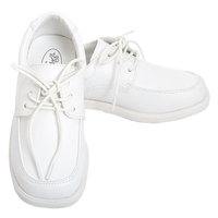 Angel White Lace Up Oxford Christening Shoe Baby Boy 3-Toddler Boy 10