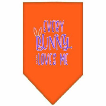 EveryBunny Loves Me Screen Print Bandana Orange Small