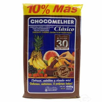 Melher Chocomelher Cholocate Flavored Coating 13.22 oz - Chocolate (Pack of 1)