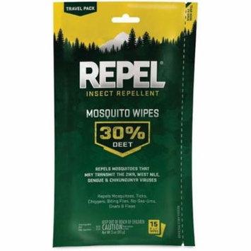Repel 123724 Repel Mosquito Wipes 30 percent Deet, Pack of 1