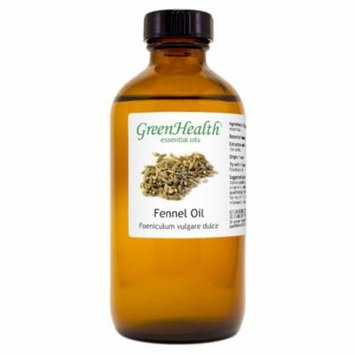 Fennel Essential Oil - 8 fl oz (237 ml) Glass Bottle w/ Cap - 100% Pure Essential Oil by GreenHealth