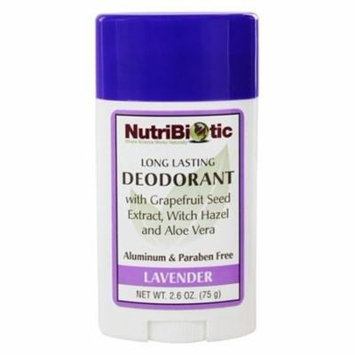 Long Lasting Deodorant Lavender Scent - 2.6 oz. by Nutribiotic (pack of 6)