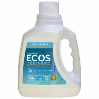 100 OZ Earth Friendly Ecos 2X Free & Clear Concentrated Laundry Detergent