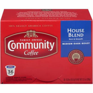 Community Coffee Single-Serve Cups House Blend, 36 Count