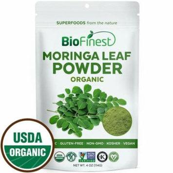 Biofinest Moringa Leaf Powder - 100% Pure Freeze-Dried Antioxidants Superfood - USDA Organic Vegan Raw Non-GMO - Boost Digestion Immune System - For Smoothie Beverage Blend (4 oz Resealable Bag)