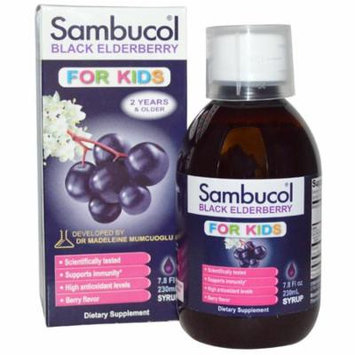 Sambucol, Black Elderberry, For Kids Syrup, Berry Flavor, 7.8 fl oz (230 ml)(Pack of 4)