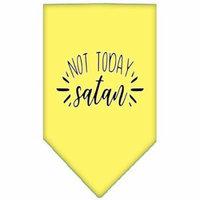 Not Today Satan Screen Print Bandana Yellow Small