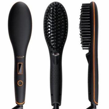 AsaVea 4.0 Ceramic Luna Hair Straightener Brush, Black