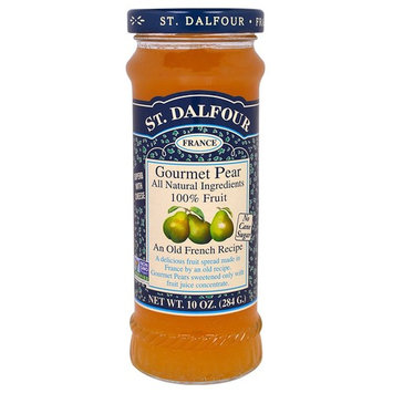 St. Dalfour, Gourmet Pear, 100% Fruit Spread, 10 oz(Pack of 2)