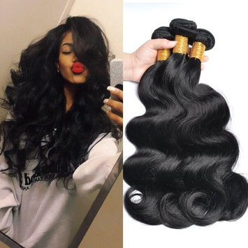 GEM Beauty Brazilian Body Wave 3 Bundles Unprocessed Virgin Human Hair Weave Bundles Body Wave Hair Extensions Natural Black 14 16 18 inch [14 16 18 inch]