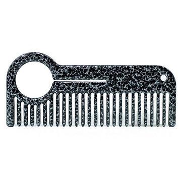 HEIRCOMB Silver Clad Stainless Steel Metal Beard Comb