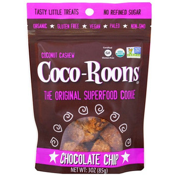 Sejoyia Foods, Coco-Roons, Chewy Cookie Bites, Chocolate Chip, 3 oz (85 g) [Flavor : Chocolate Chip]