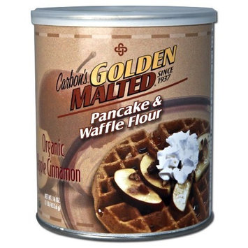Carbon's Golden Malted Organic Apple Cinnamon Waffle and Pancake Flour, 32 Ounce