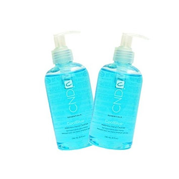 2 X New Coolblue Cool Blue Waterless Hand Cleanser Sanitizer A refreshing, water-free sanitizer that leaves skin soft : Size 8 fl oz