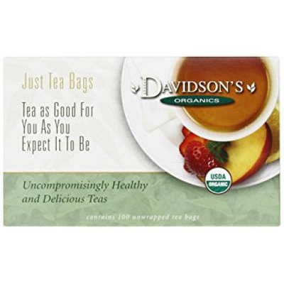 Davidson's Tea Davidson Organic Tea 163 Hibiscus Tea Box of 100 Tea Bags