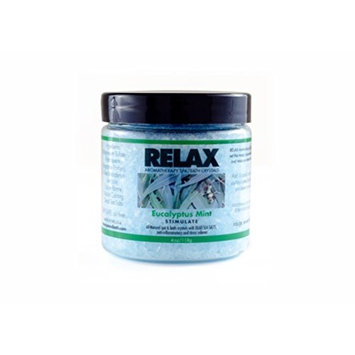 Eucalyptus Mint Aroma Therapy Dead Sea Salts & Minerals -4 Oz Bottle- Soak Aches, Pains & Stress Relief for Hot Tub, Spa, Bath