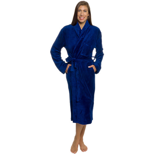 Silver Lilly Womens Plush Wrap Kimono Bathrobe Lougewear w/ Tie Belt