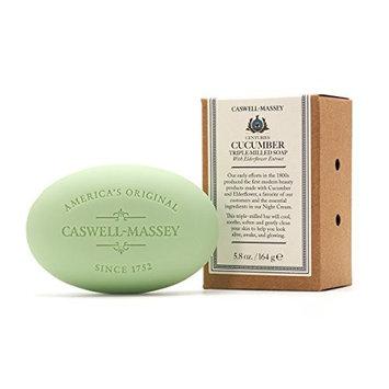 Caswell-Massey Triple Milled Luxury Bath Soap Set - Cucumber and Elderflower Single Bar Soap, 5.8 Oz [Cucumber]