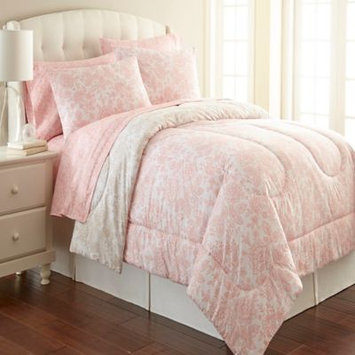 Shavel Home Products Micro Flannel Enchantement Rose Printed 3-piece Comforter Set
