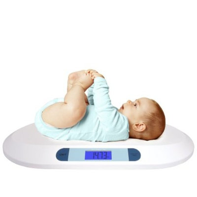 Smart Weigh 44lbx0.4oz Comfort Digital Baby Scale Infants Toddlers LCD Display