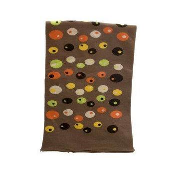 Mia Headband Model No. 01750 - Brown with Multi-Colored Random Dots