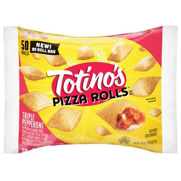 Totino's Pizza Rolls, Triple Pepperoni, 50 Rolls, 24.8 oz Bag