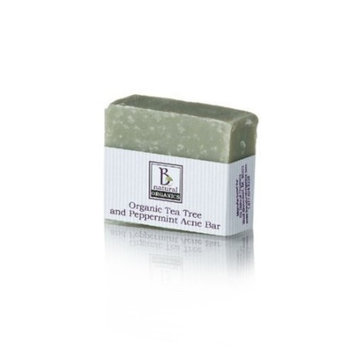 Be Natural Organics Organic Tea Tree and Peppermint Acne Bar 4oz. bar